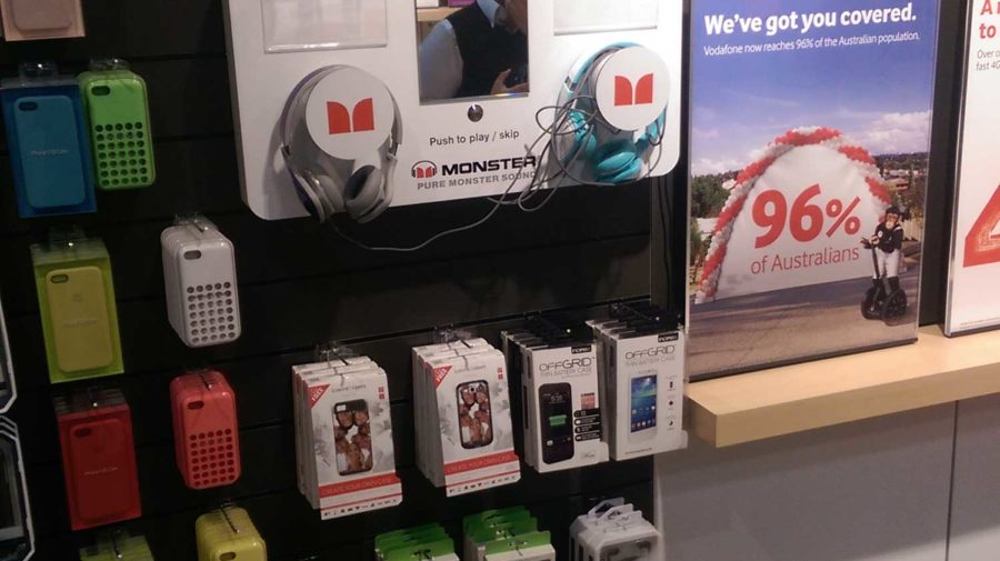 Monster Interactive Headphone Display, for Vodafone
