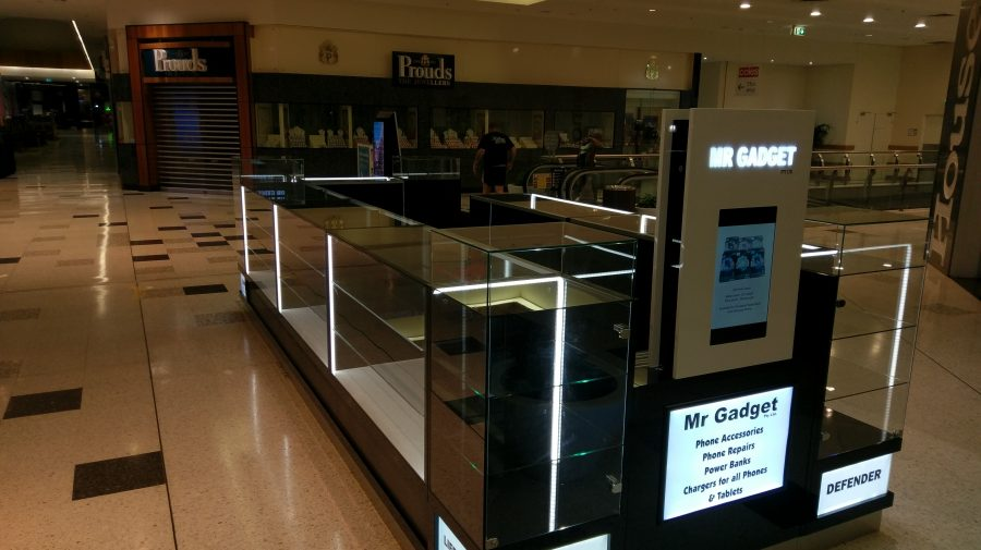 Mr Gadget, Frame less Glass Kiosk