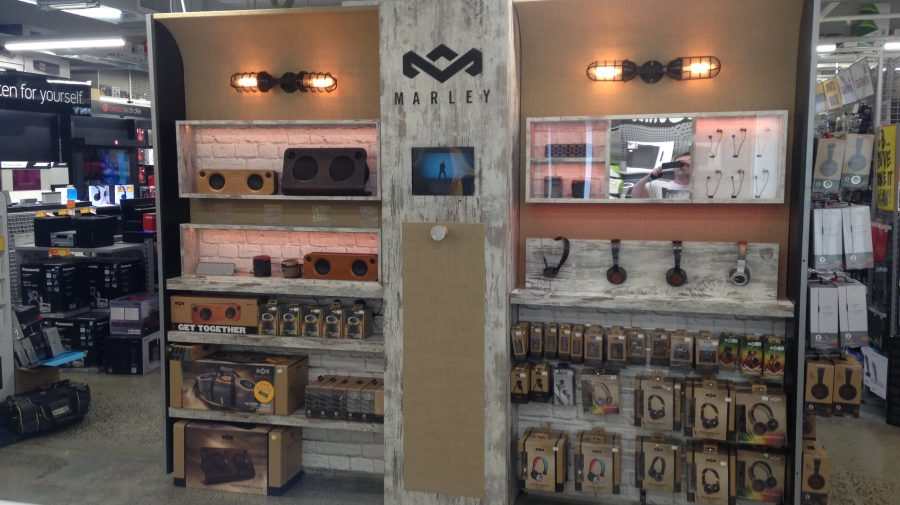 Marley Custom Interactive Headphone Display, for JB HI-FI