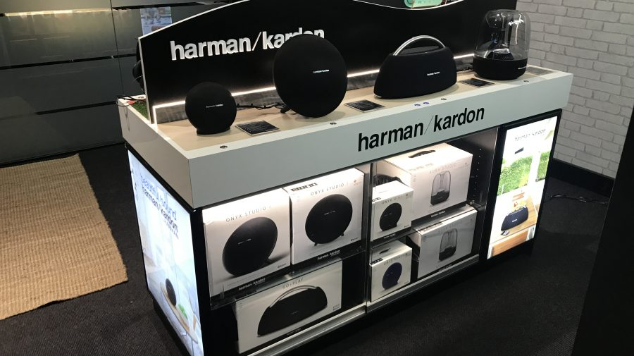 Harman Kardon / JBL Speaker & headphone Play bench, for Harvey Norman & New Zealand Duty Free