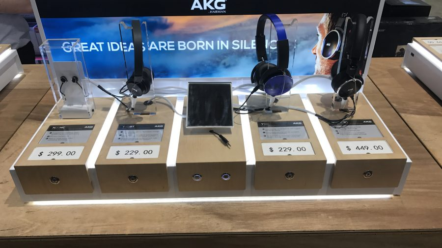 Interactive Headphone Display, for Harvey Norman