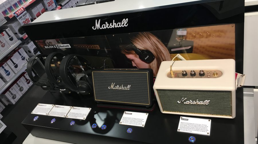 Marshell Speaker & Headphone Display, for Harvey Norman