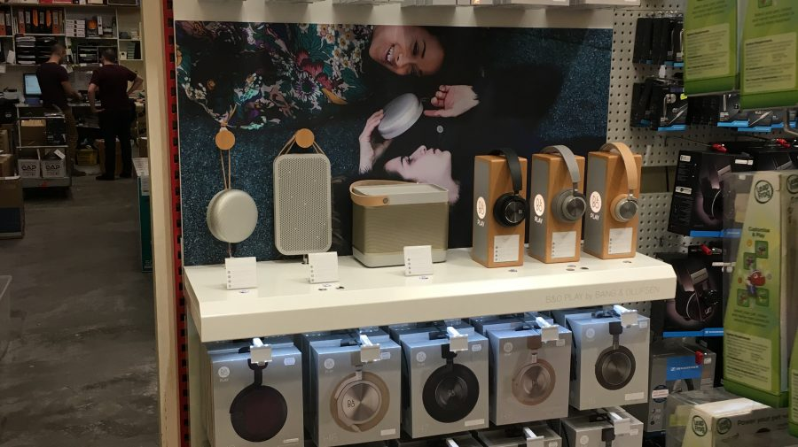 B&O Headphone & Speaker Display, for JB-HI-FI