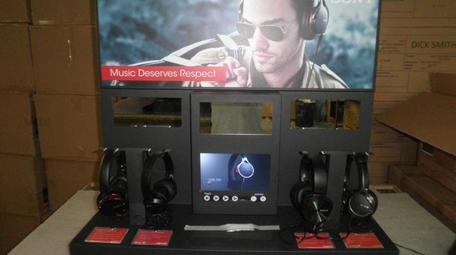 Interactive SONY Headphone Display, for Dick Smith