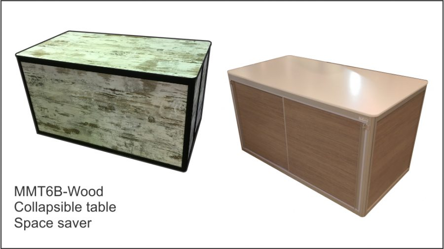 MMT6B- Wood Collapsible table space saver