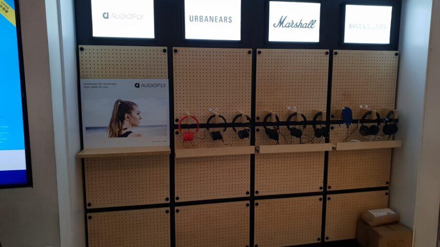 WHSmith Interactive Headphone Display